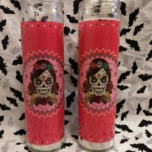 Brand New Sugar Skull Candle Set